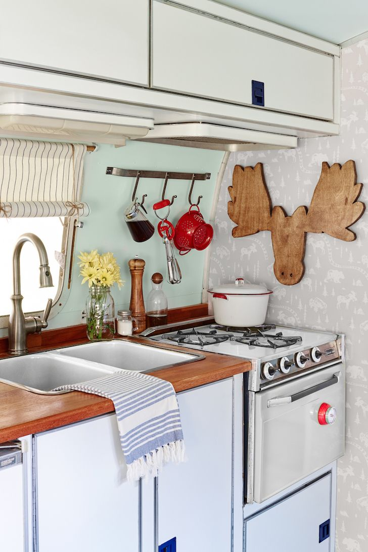 6 Cheap And Easy Ways To Upgrade A Vintage Trailer Rv makeover Rv