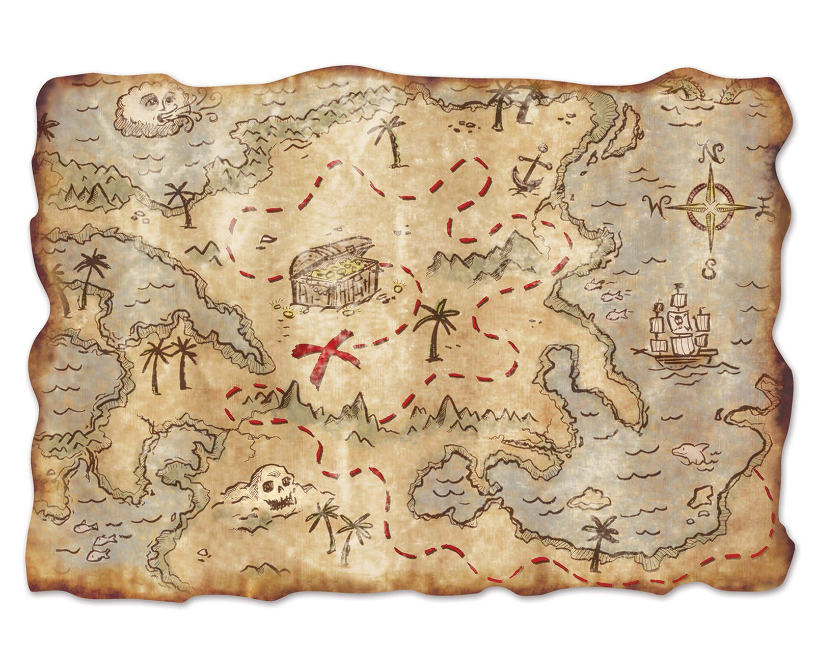 Jumbo Treasure Map Cutout Treasure Maps Birthdays And