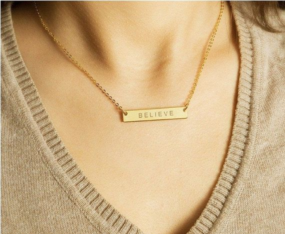 Roman Numeral Necklace Roman Date Bar Name Plate