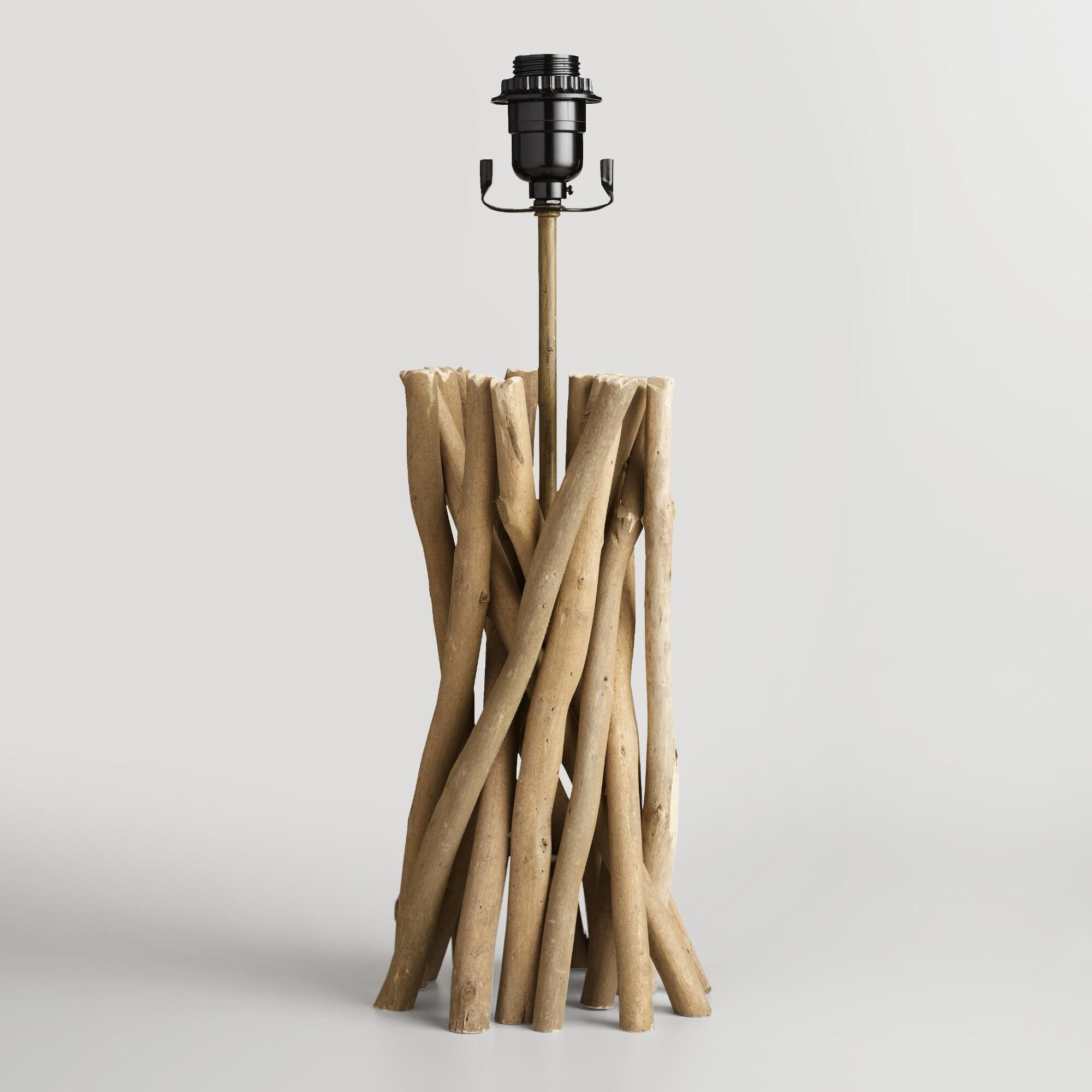 Driftwood table lamp base driftwood table table lamp shades and our exclusive driftwood table lamp base is intricately hand assembled by skilled artisans in the philippines geotapseo Image collections