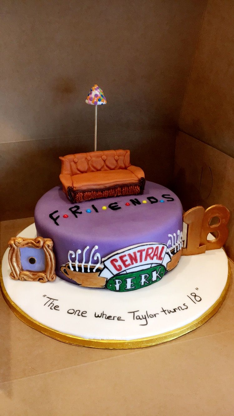 Friends themed cake for my daughters 18th Birthday Big thanks to