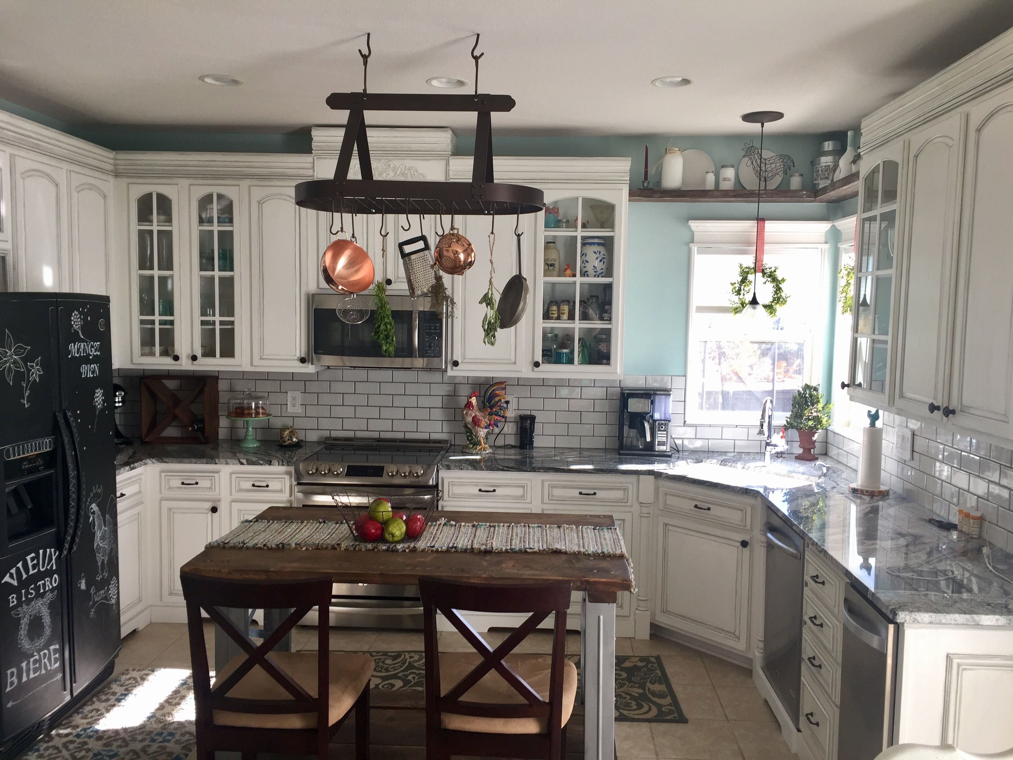Silver Cloud Graniteour kitchen remodel. Inexpensive