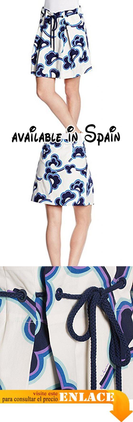 See By Chloé Gonna con Anelli Vita, Falda para Mujer, Azul (0014 Blue/Clouds), 42