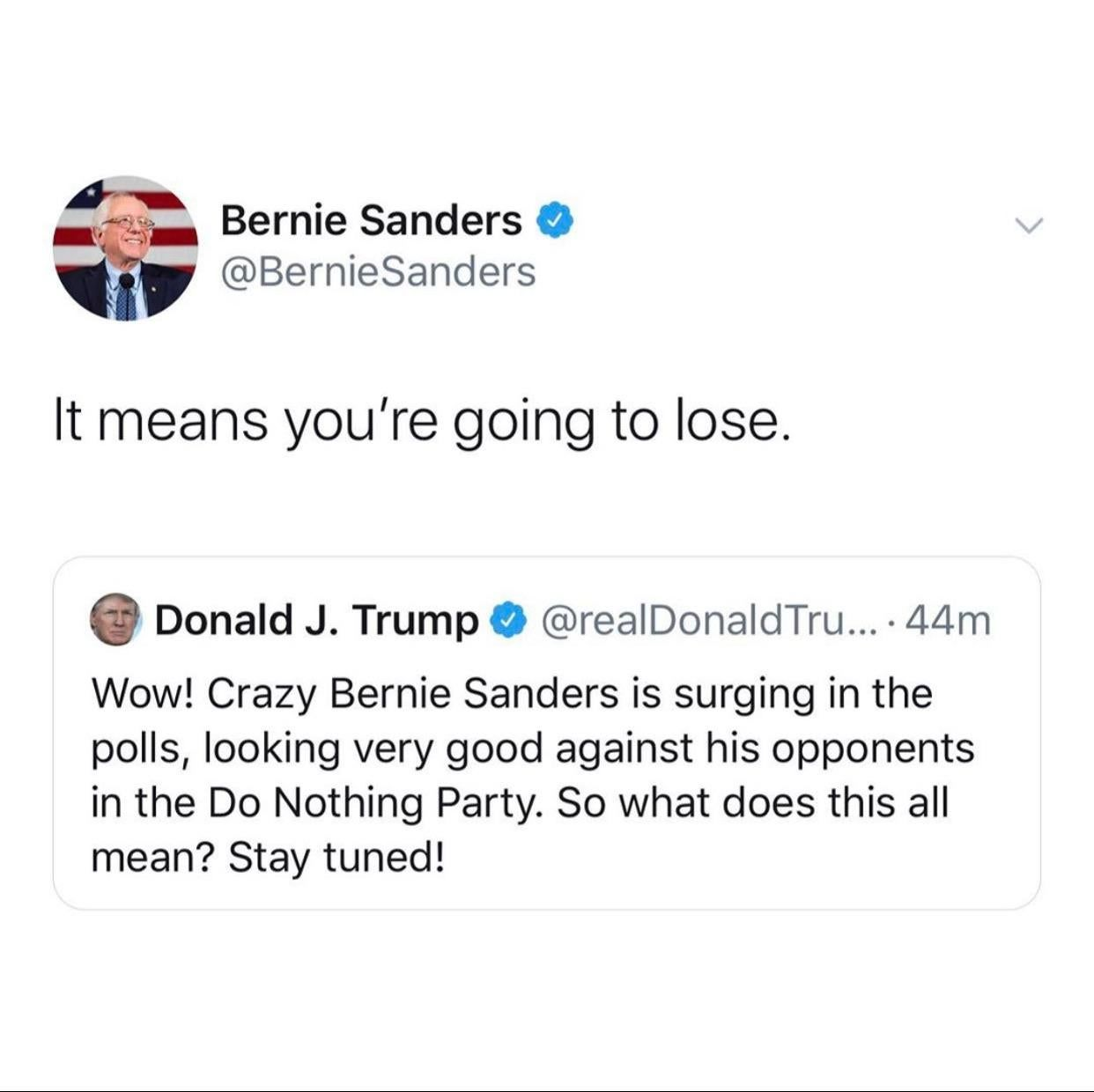 Murderedbywords More Gold From The Sanders Campaign Funny Relatable Memes Funny Comebacks Funny Memes