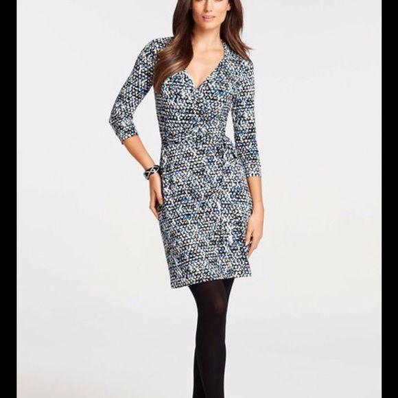 Ann Taylor Wrap Dress EUC Ann Taylor 3/4 sleeve wrap dress. Black ...
