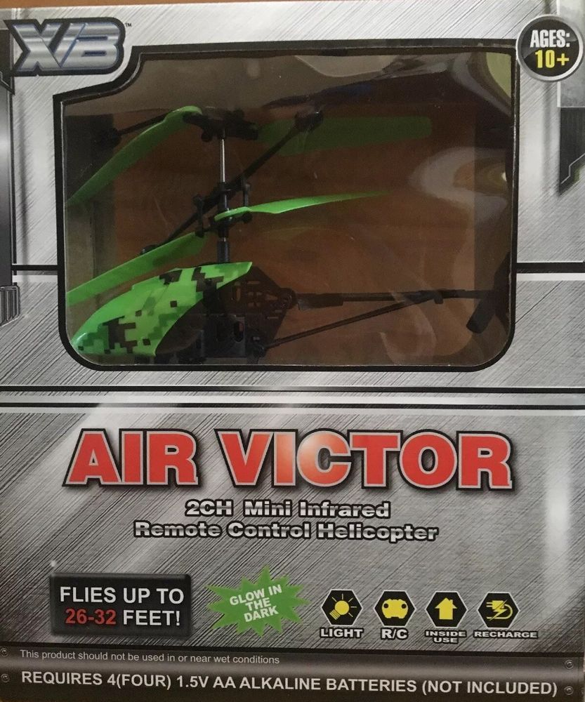 Air Victor 2CH Mini Infrared Remote Control Helicopter GREEN