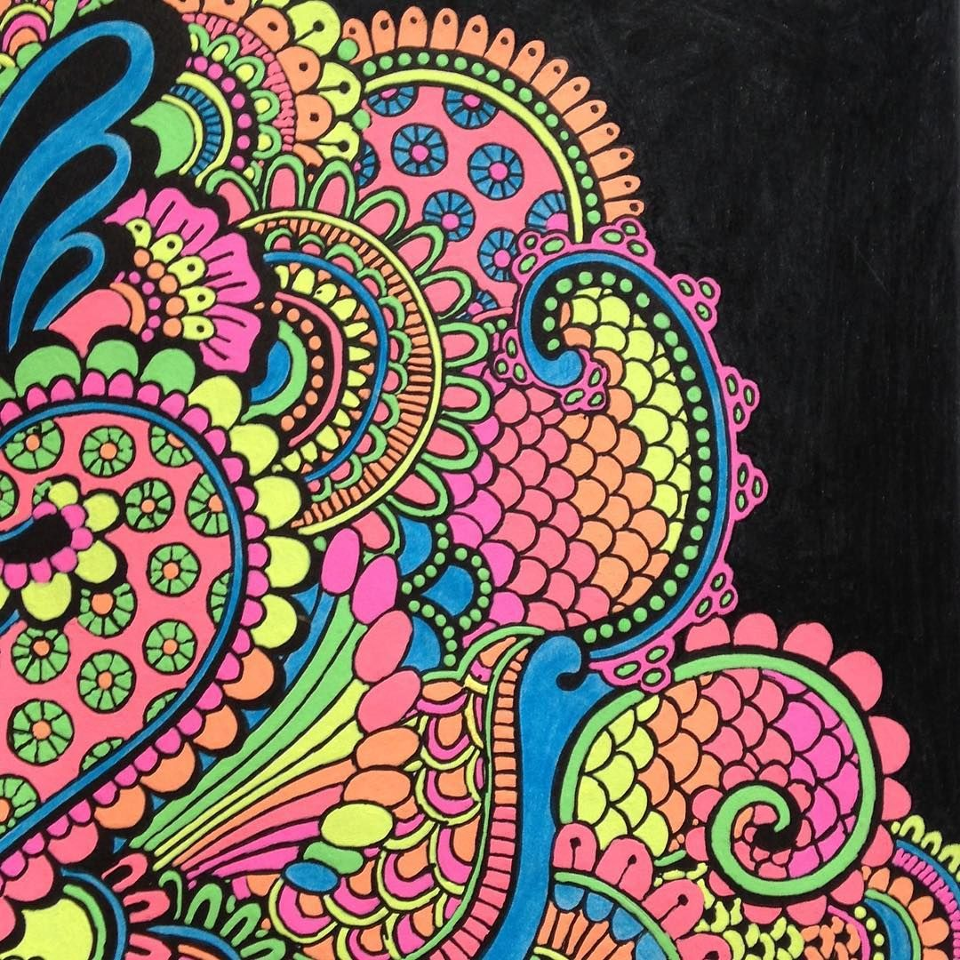 Completed Coloring Page From Posh Book Soothing Designs
