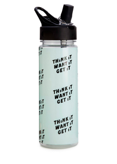 Work It Out Water Bottle-Think It Want It Get It #accessories #ban-do #drinkware #gift #home #new #spring-break #under-40