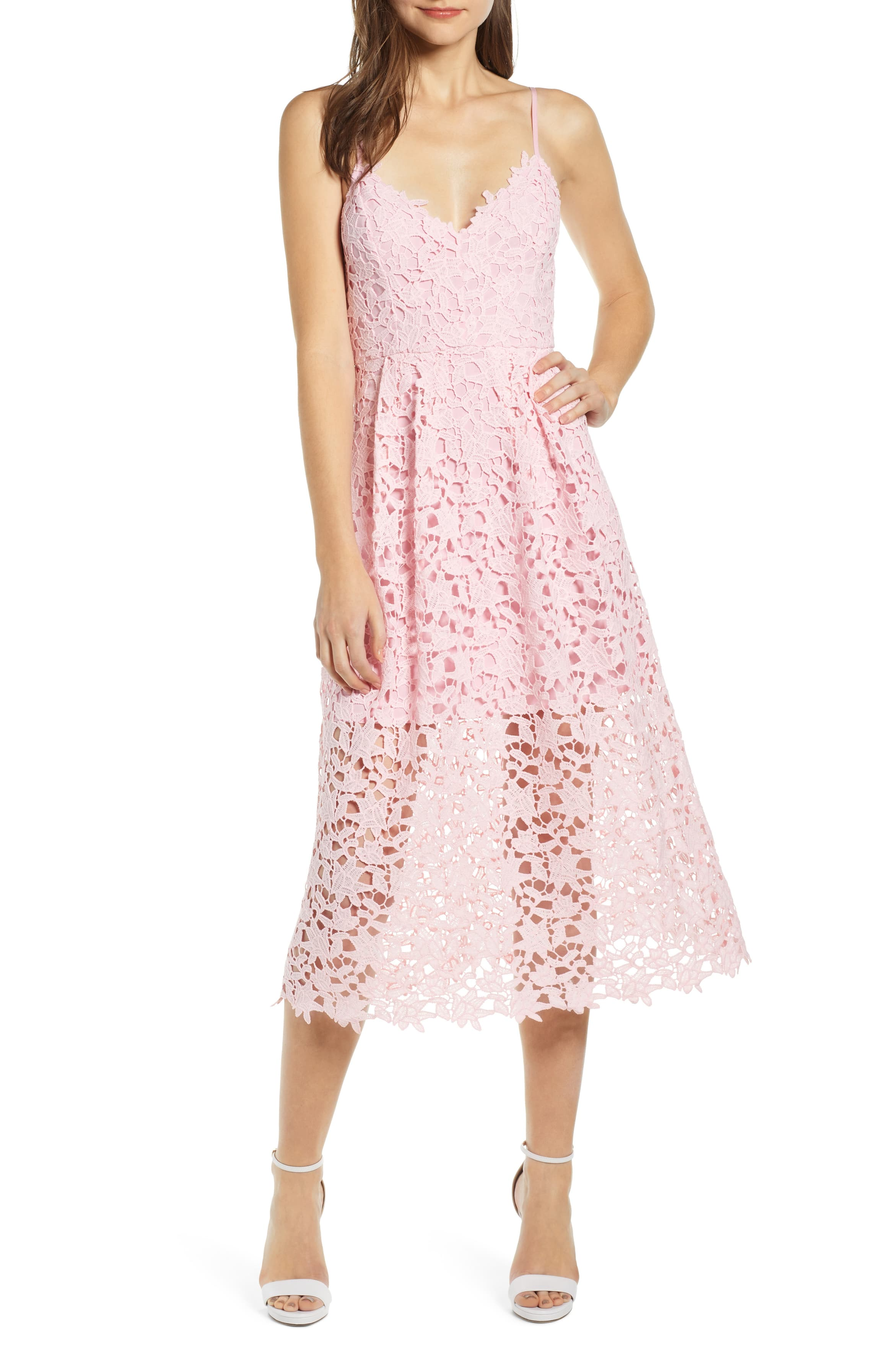 Astr The Label Lace Midi Dress Nordstrom Midi Dress Dresses Petite Formal Dresses [ 3588 x 2340 Pixel ]