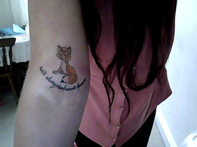 Me And My Mother Always Watched Disney Films Together But One That Always Meant The Most To Us Is The Fox Disney Sleeve Tattoos Disney Tattoos Fandom Tattoos