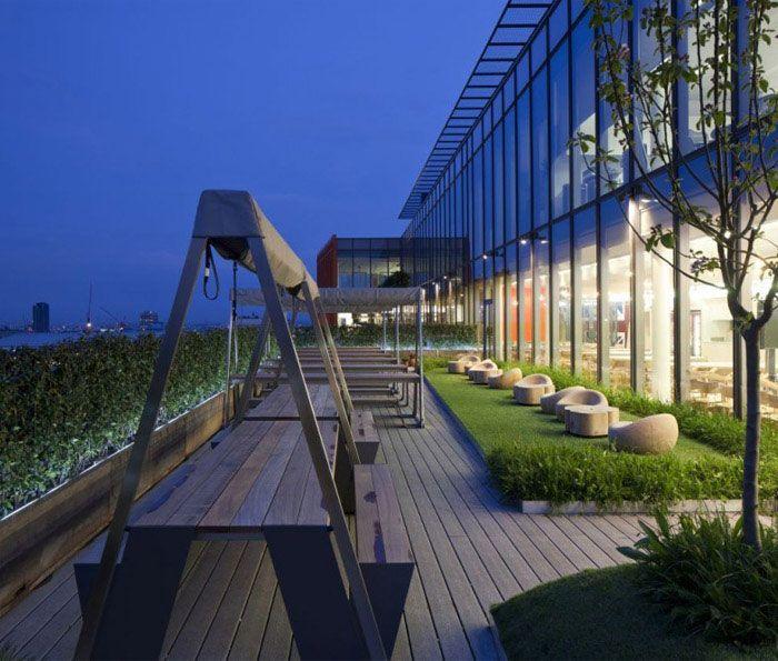 Google S New Super Hq Roof Garden Design Google Office Roof Garden