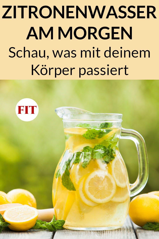 Zitronenwasser zum Abnehmen Erfahrung