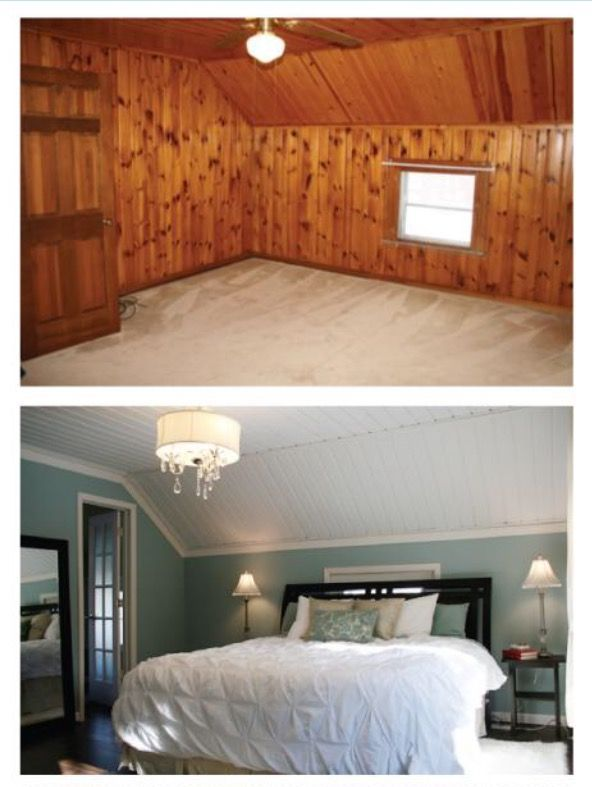 I Love Wood Paneling Painted