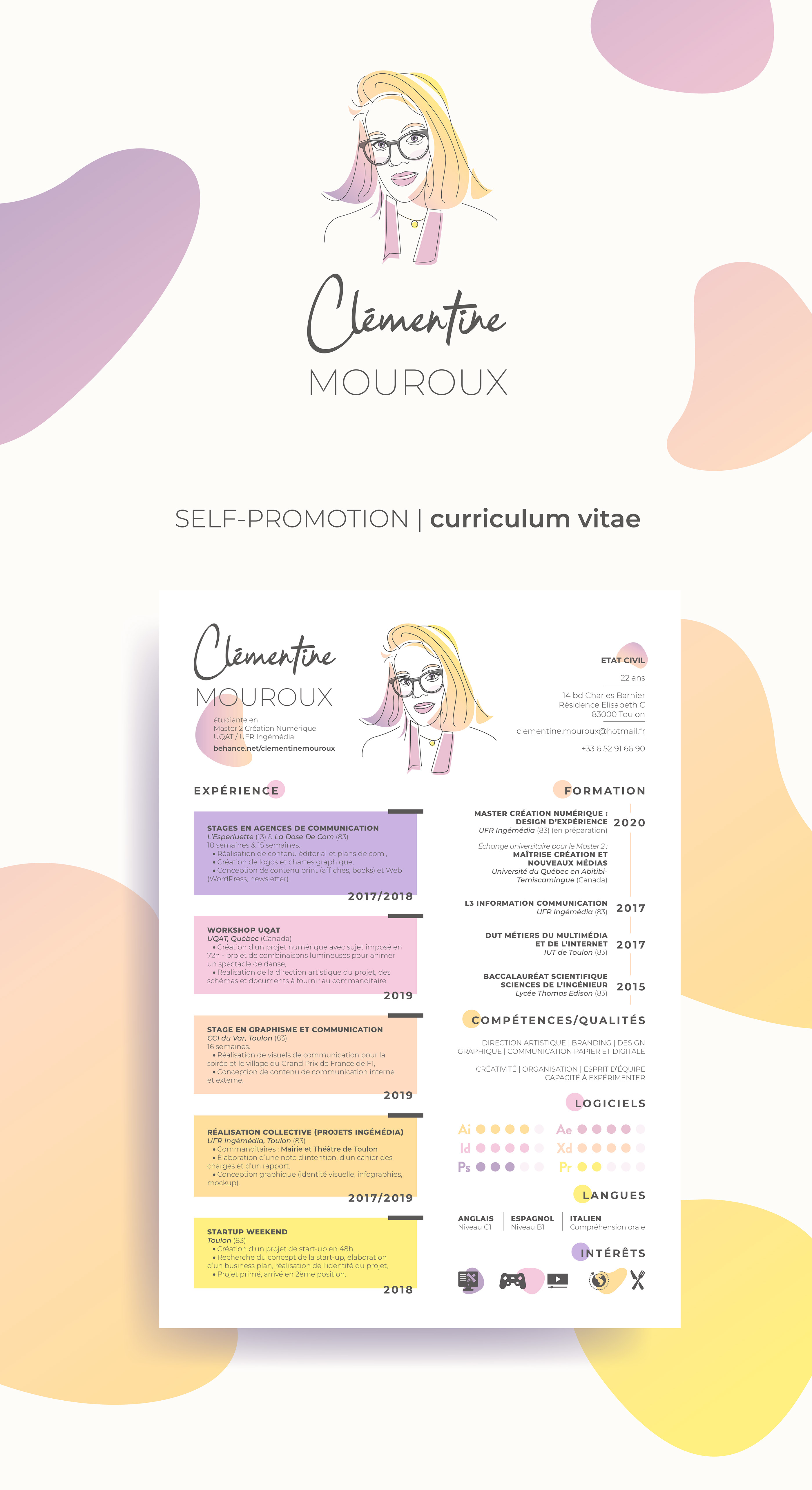Pin By Dylan Seemann On Viscom In 2020 Graphic Design Resume Resume Design Creative Cv Design Creative