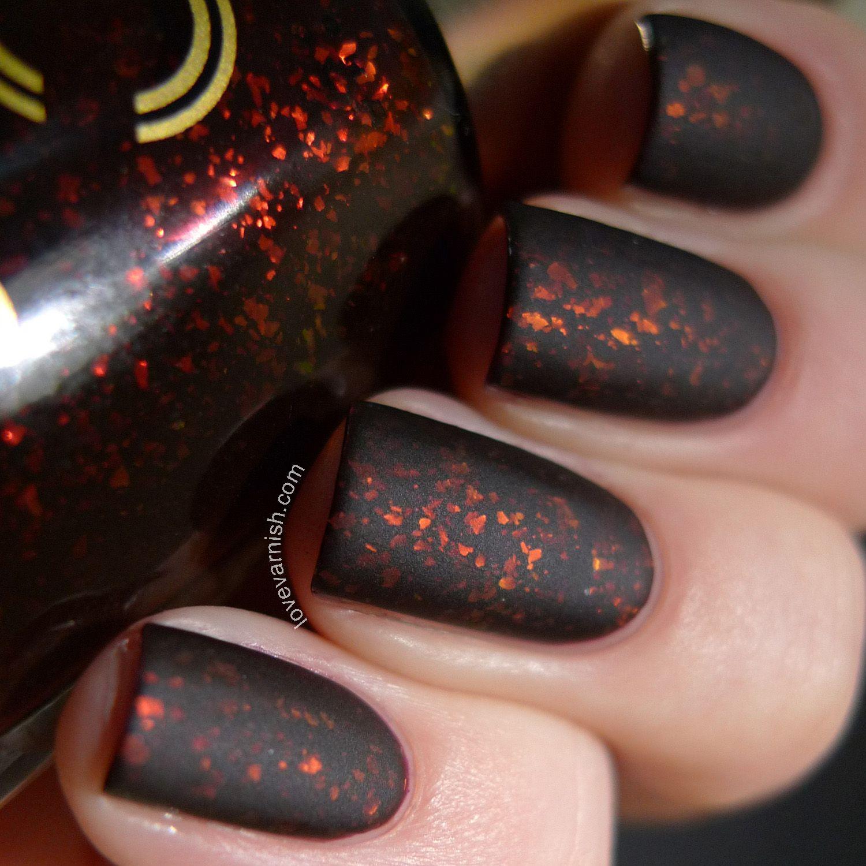 Dance Legend Candy Flakes Bite Tonight red black flakie polish matte ...