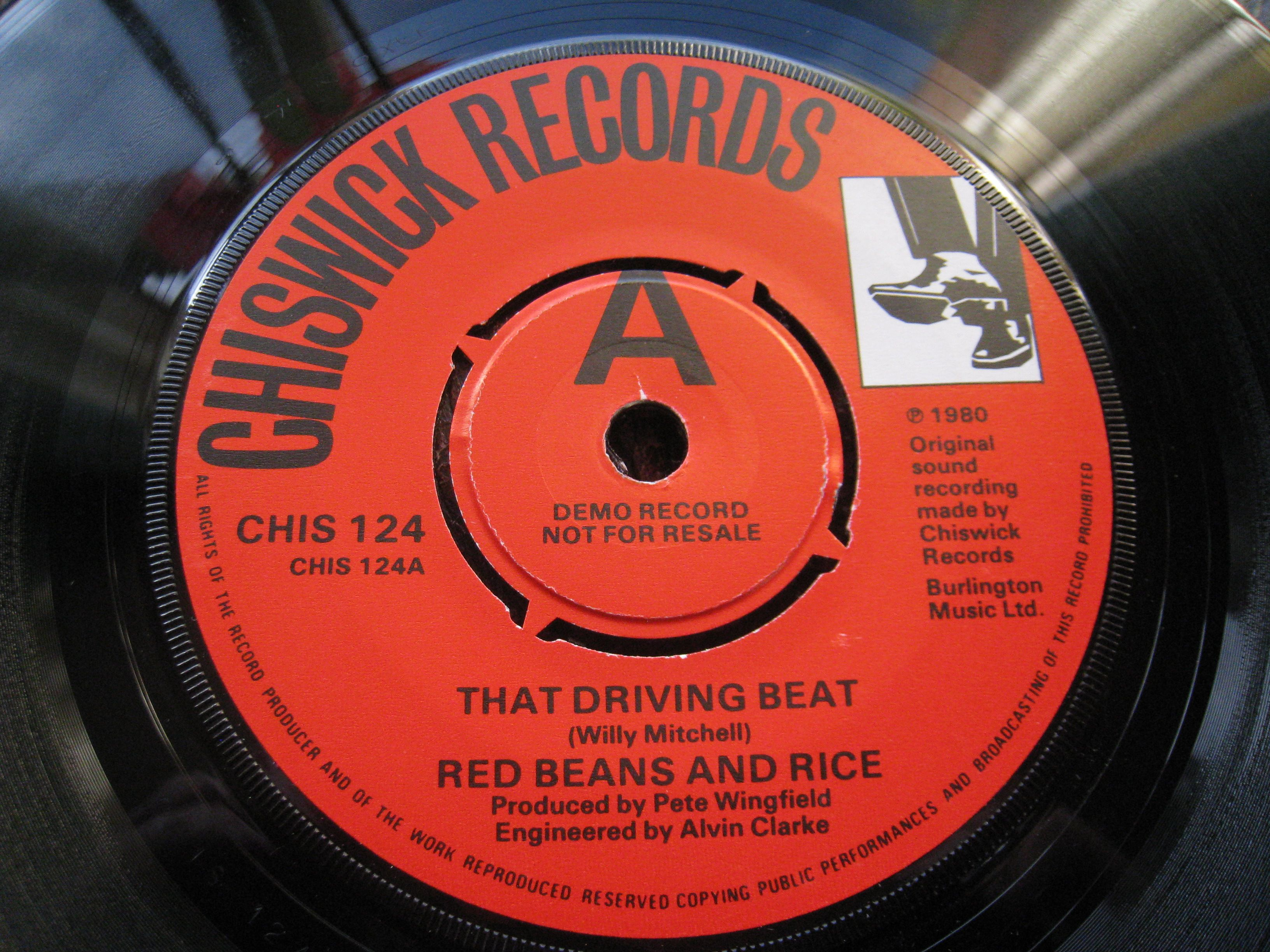 Red Beans Rice That Driving Beat Promo Northern Soul Soul Music Records