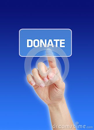 Hand Press Donate Button - Download From Over 27 Million