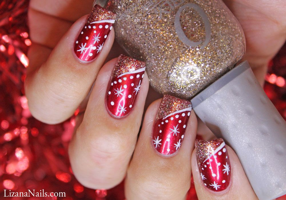 Nail Art Merry Christmas 2013 • LizanaNails | Nails | Pinterest ...