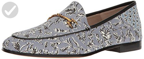 Sam Edelman Women's Loraine Loafer, Dusty Blue Printed Fabric, 7 M US