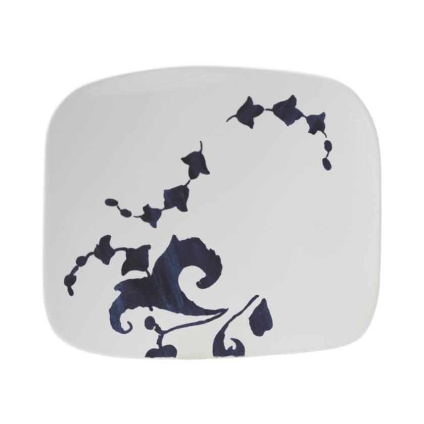 "Gien - 'Indigo' Collection - Gourmet Platter, Medium, 9.5x8.25"""