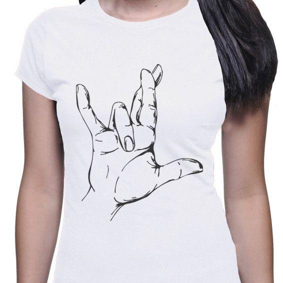 Asl Love Tattoo: I Really Love You Women's T-Shirt