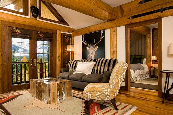 Rustic Living Room By Markham Roberts Inc By: Country Home Decor With Contemporary Flair