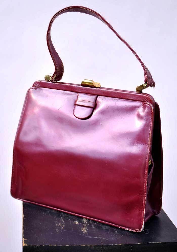 a001a20e3eb2 Vintage 1960s Pearlescent Cherry Lodix Handbag Bag • Madmen – Top Notch  Vintage