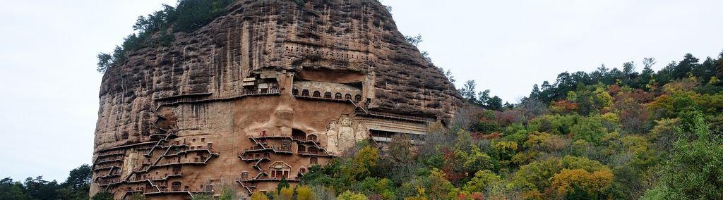 The Maijishan Grottoes. China