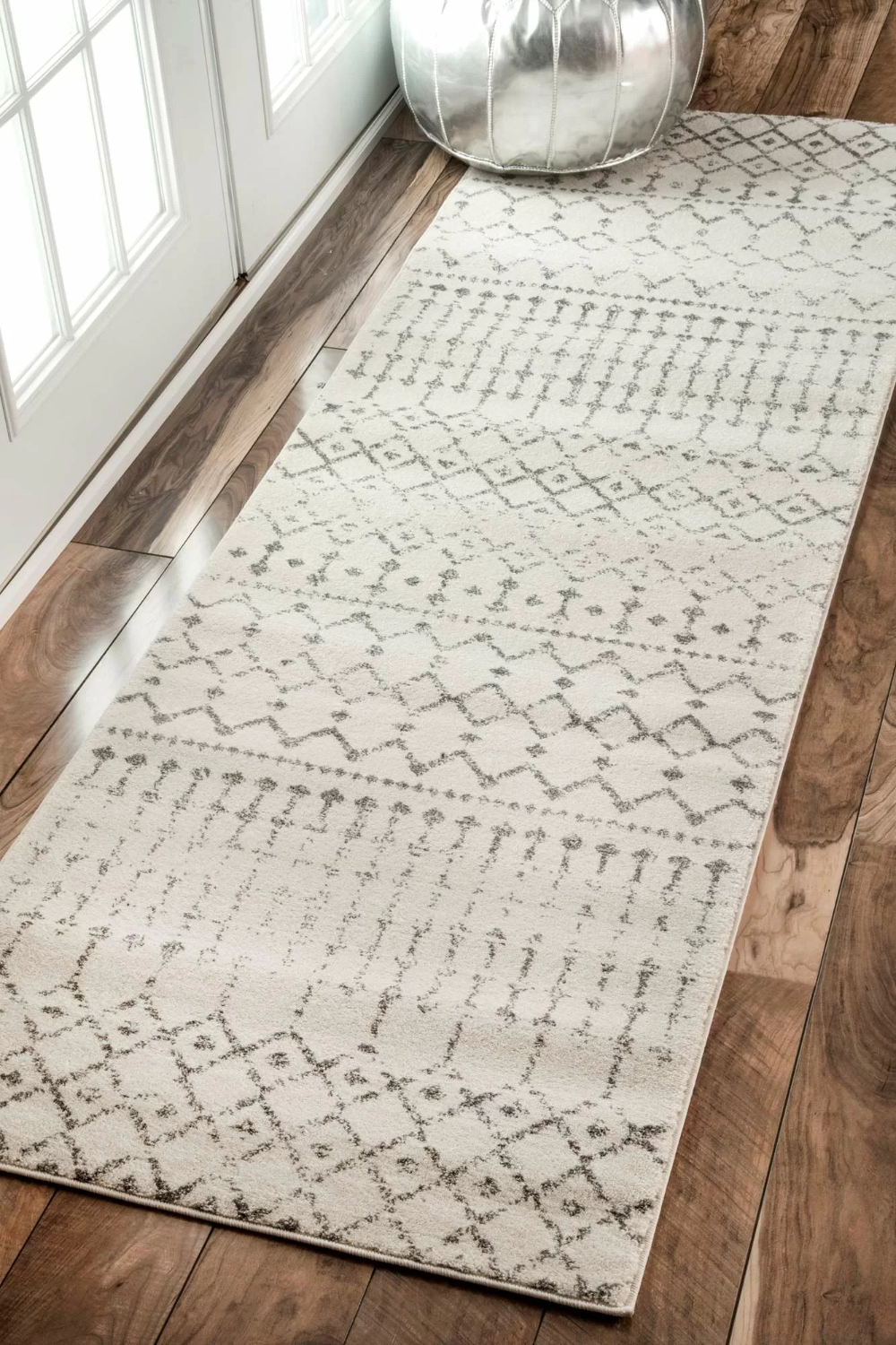 Lucienne Geometric Gray Rug in 9  Rug runner kitchen, Rugs usa