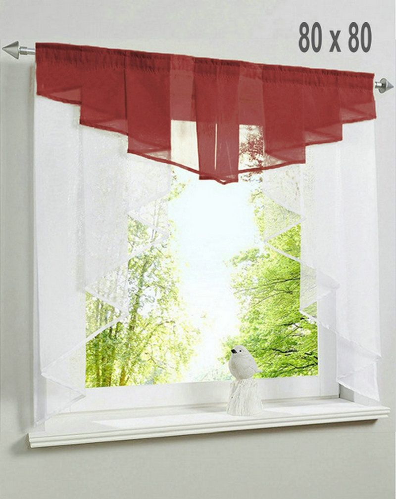 European window coverings  cm by cm europe pleated valance style small sheer voile balcony