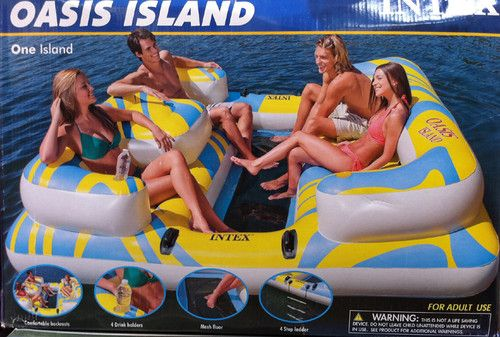 Relaxation Station Pool Lounge: NEW INTEX Oasis Island Inflatable Lake & River Seated