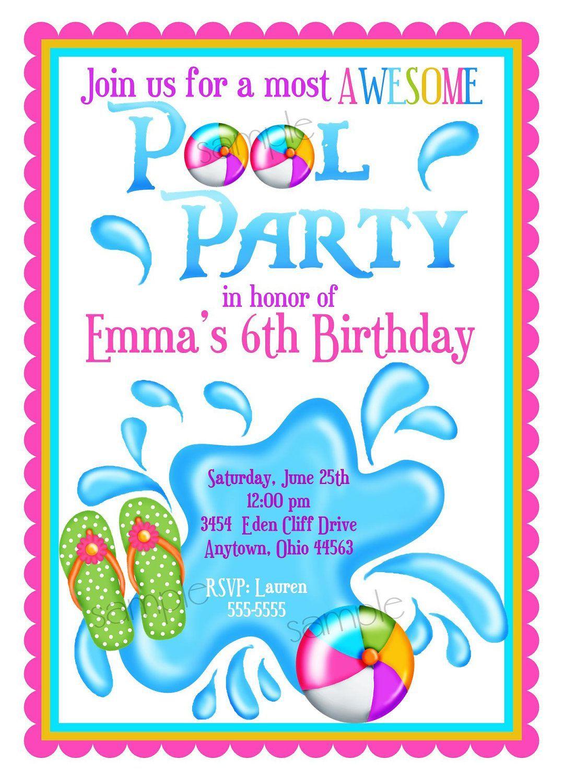 Einladungskarten Kindergeburtstag Zum Ausdrucken Schwimmbad