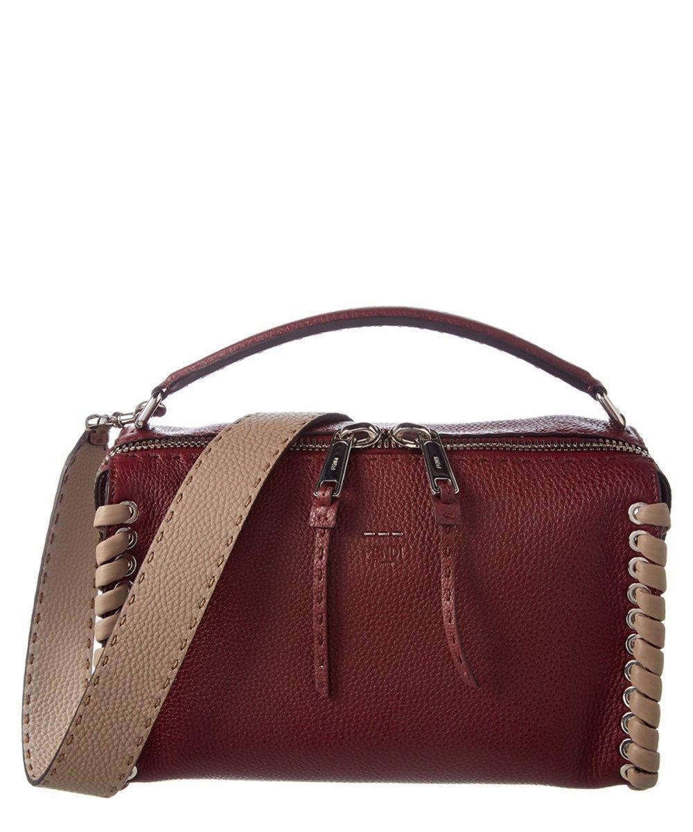 9a59c4e85f2f FENDI Fendi Lei Selleria Leather Boston Bag.  fendi  bags  shoulder bags   hand bags  suede  lining