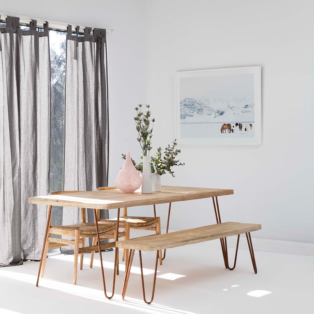 Copper Crush Make A Dining Room Statement With Oz Design Fascinating Dining Room Table Bench Seat 2018