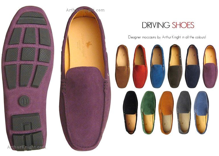 e040b291400 Purple Suede Driving Shoes Arthur Knight
