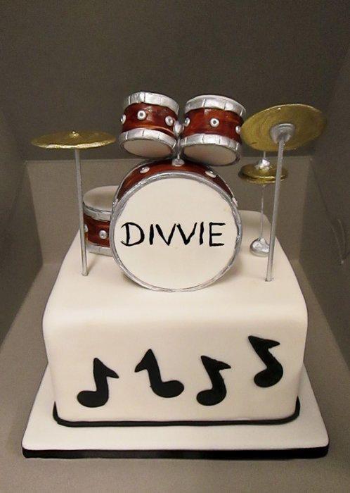 Drum Set Cake - Cake by Robyn