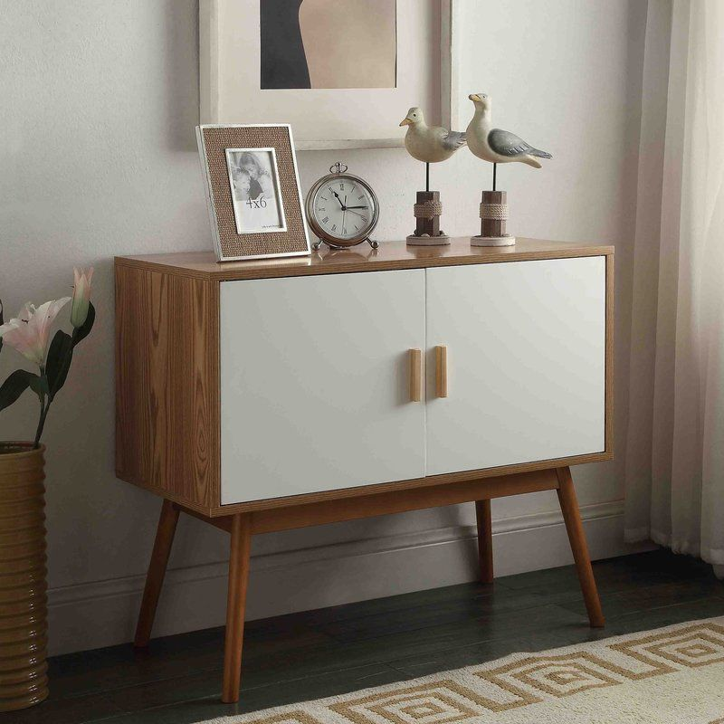 Phoebe 2 Door Accent Cabinet Modern Console Tables Mid Century Modern Console Table Furniture