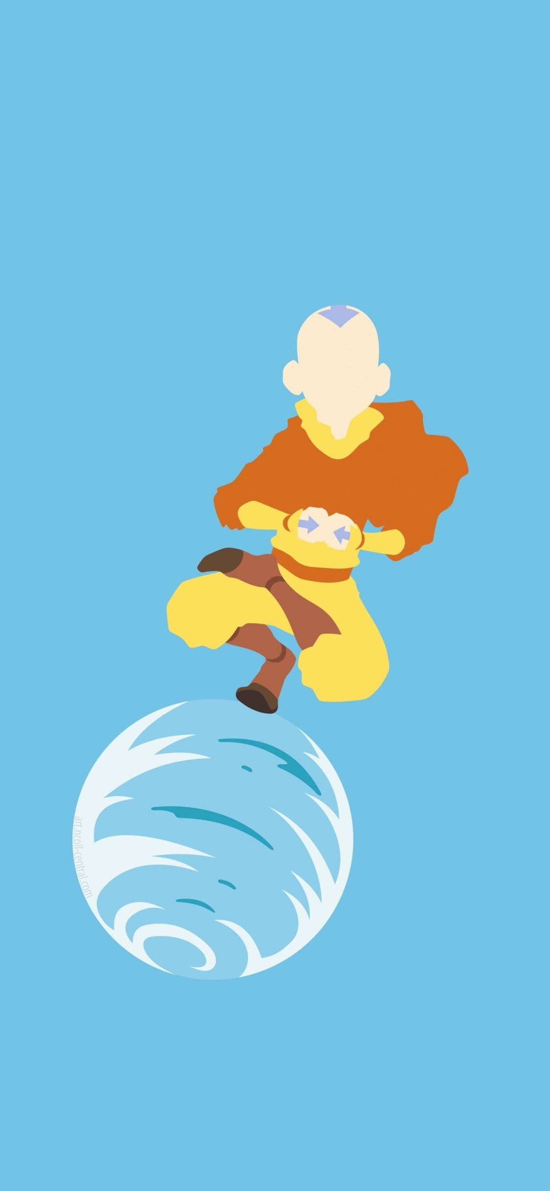 Minimal Aang Avatar The Last Airbender 1125x2436 Wallpaper Anime Wallpaper Cartoon Art Anime Fantasy