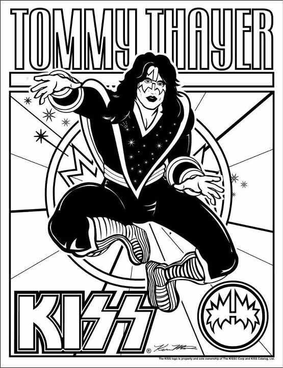 Tommy Coloring Page Kiss Artwork Coloring Pages Kiss Band Makeup