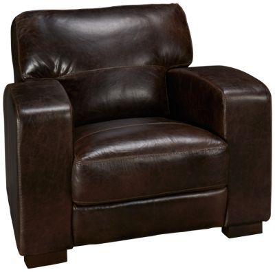Soft Line-Aspen-Soft Line Aspen Leather Chair - Jordan's Furniture