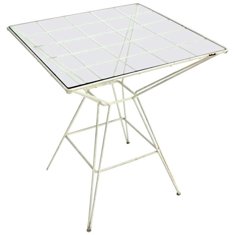 Eiffel Tower Style Cafe Table By Mattieu Mategot Cafe Tables Table Furniture