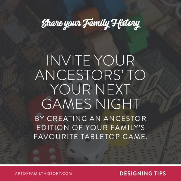 Share Your Family History. Invite Your Ancestors' To Your