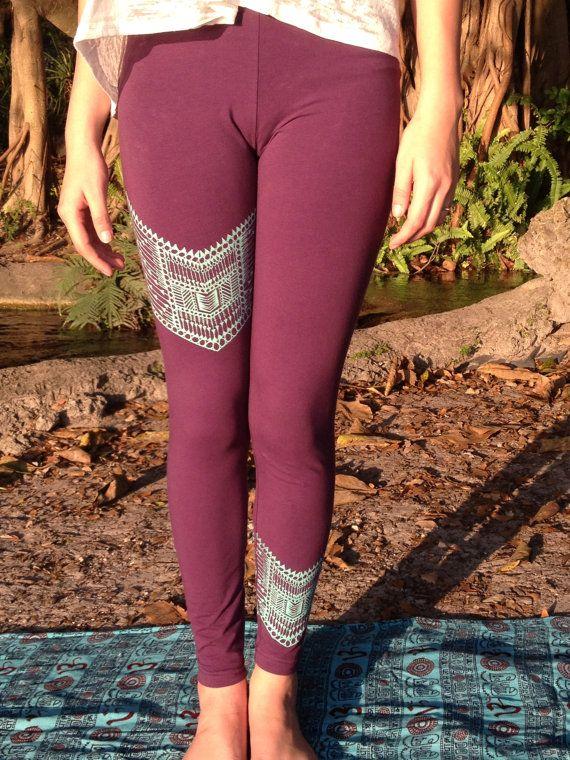 Tribal Chevron Leggings by GrizzyLove on Etsy, $42.00