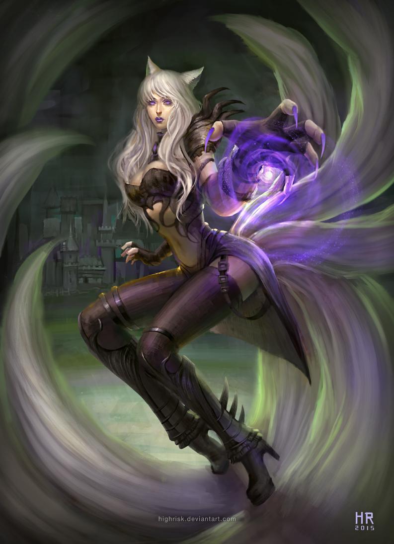 League of Legends ~ Ahri ~ Skin Concept (Warlock Ahri ...