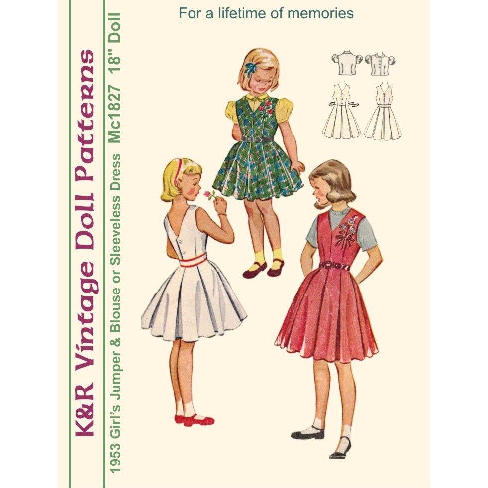 1950s KRVP-Mc1827 Dress Pattern - Digital Download |The 2nd Life ...