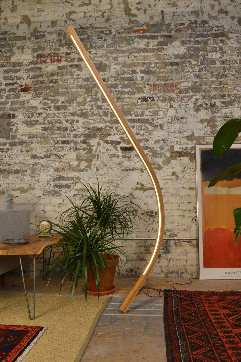 Arc Curved Wooden Led Floor Lamp In 2020 Floor Lamp Wooden Floor Lamps Led Floor Lamp