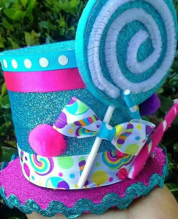 Pin de monica trevi o en a pinterest sombreros locos rebecas y tareas - Decoracion con caramelo ...