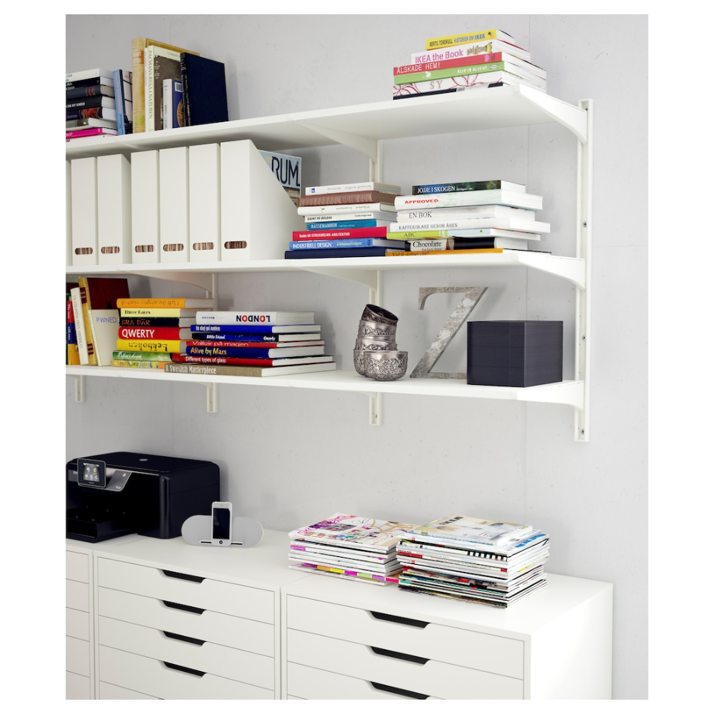 Algot Wall Upright Shelves White 33 7 8x16 1 8x33 1 2 In 2020