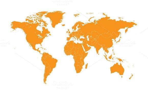 World map orange flat design web elements pinterest orange world map black wall mural photo wallpaper photowall gumiabroncs Choice Image