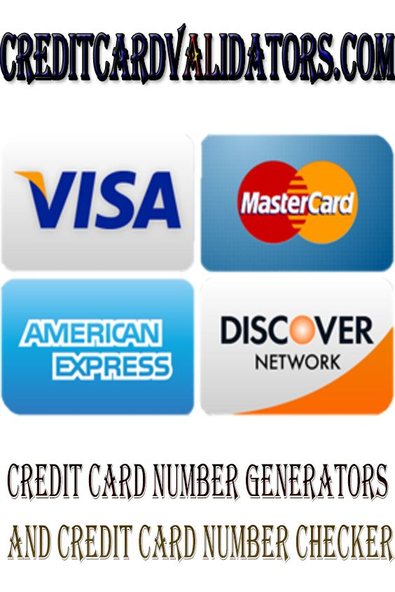 Credit Card Number Generators And Credit Card Number Checker